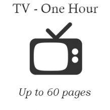 TV One Hour (Up to 60 pages)
